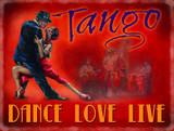 Tango - Dance, Love, Life Blechschild