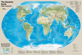 National Geographic - The Dynamic Earth, Plate Tectonics Map Laminated Poster Posters av Geographic, National