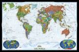 National Geographic - World Decorator Map Laminated Poster Posters af National Geographic