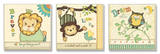 Lion, Monkey, Owl Inspiration Kids Trio Wood Sign