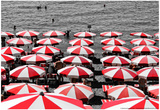 Beach Umbrellas Amalfi Coast Italy Photo
