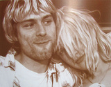 Kurt Cobain Courtney Love Poster Masterprint
