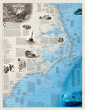 National Geographic - Shipwrecks of the Outer Banks Map Laminated Poster