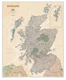 National Geographic - Scotland Executive Map Laminated Poster Stampa di Geographic, National