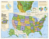 National Geographic - Kids Beginners USA Education Map (Grades K-3) Giant Poster Posters af National Geographic