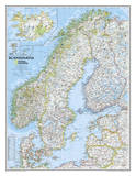 National Geographic - Scandinavia Classic Map Laminated Poster Print by National Geographic