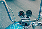 Handlebars and Gauges on Harley Davidson Poster