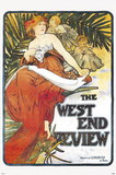 West End Review Prints by Alphonse Mucha