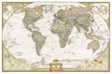 Carte du monde haut de gamme - National Geographic – Poster géant laminé Photographie par National Geographic