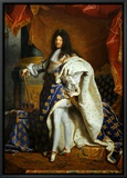 Louis XIV, King of France (1638-1715) in Royal Costume, 1701 Framed Canvas Print by Hyacinthe Rigaud