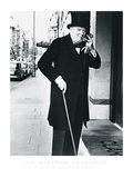 Sir Winston Churchill Outside Claridges Hotel Posters by  The Chelsea Collection