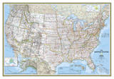 National Geographic - United States Classic Map Laminated Poster Posters af  National Geographic Maps