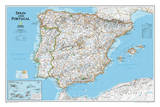 National Geographic - Spain & Portugal Classic Map Laminated Poster Posters av Geographic, National
