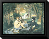Dejeuner sur l'Herbe Leinwandtransfer mit Rahmung von Edouard Manet