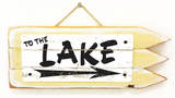 To The Lake Vintage Wood Sign