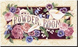 Powder Room Stretched Canvas Print by Karen Avery