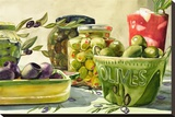 I Live For Olives Stretched Canvas Print by Karen Honaker