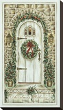 Christmas Welcome Stretched Canvas Print by Constance Lael