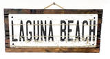 Laguna Beach Vintage Wood Sign