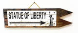 Statue of Liberty Vintage Wood Sign
