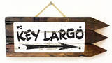 Key Largo Vintage Wood Sign