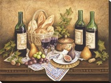 French Country Wine I Stretched Canvas Print by Anna Browne
