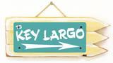 Key Largo Teal Wood Sign