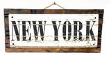 New York Vintage Wood Sign