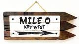 Mile 0 Key West Vintage Wood Sign