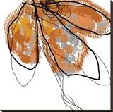Orange Petals Leinwand von Jan Weiss