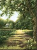 Casa con estanque Reproducción en lienzo de la lámina por Lene Alston Casey