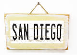 San Diego Vintage Wood Sign
