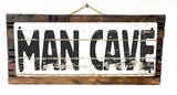 Man Cave Vintage Wood Sign
