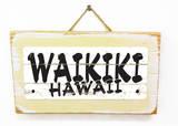 Waikiki Hawaii Vintage Wood Sign