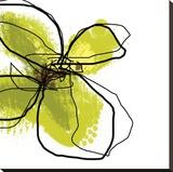 Green Petals Leinwand von Jan Weiss