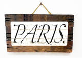 Paris Vintage Wood Sign