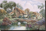 Village Of Dorset Stretched Canvas Print by Carl Valente