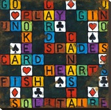 Play Cards Stretched Canvas Print by Janet Kruskamp