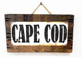 Cape Cod Rusted Wood Sign