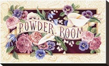 Powder Room Reproduction transf&#233;r&#233;e sur toile par Karen Avery