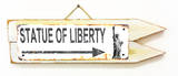 Statue of Liberty Rusted Wood Sign