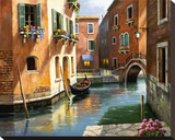Venice Afternoon Stretched Canvas Print by Sung Kim