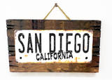 San Diego California Rusted Wood Sign