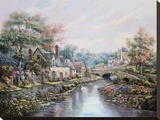 Valley Of The River Beck Stretched Canvas Print by Carl Valente