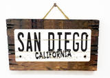 San Diego California Vintage Wood Sign