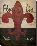 Fleur De Lis Stretched Canvas Print by Karen J. Williams