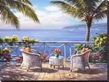 Two by the Sea Stretched Canvas Print by Sung Kim
