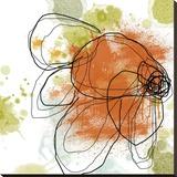 Orange Liquid Flower Reproduction transférée sur toile par Jan Weiss