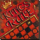 Kings Rule Stretched Canvas Print by Janet Kruskamp