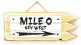 Mile 0 Key West Vintage Wood Sign